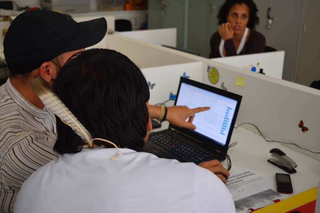 DGM Brazil project beneficiary receiving training by DGM Brazil National Executing Agency, CAA/NM. Photo Credit: DGM Brazil CAA/NM