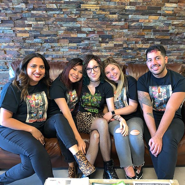 It was a sad day for #MatthewsCoSalon Today.... Our Beautiful, Rocker, Awesome, Most Valuable employee Miranda decided to move on.... We wish her the best and support her decision 100% ❤️☹️😊#BestHairSalon #SeasonedVeteran #WeLoveYou and #WillMissYou #Mirrr