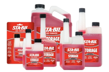 STA-BIL is an industry standard fuel stabilizer.  Buy one of the little bottles, you won't need much for your scooter, moped, or motorcycle.