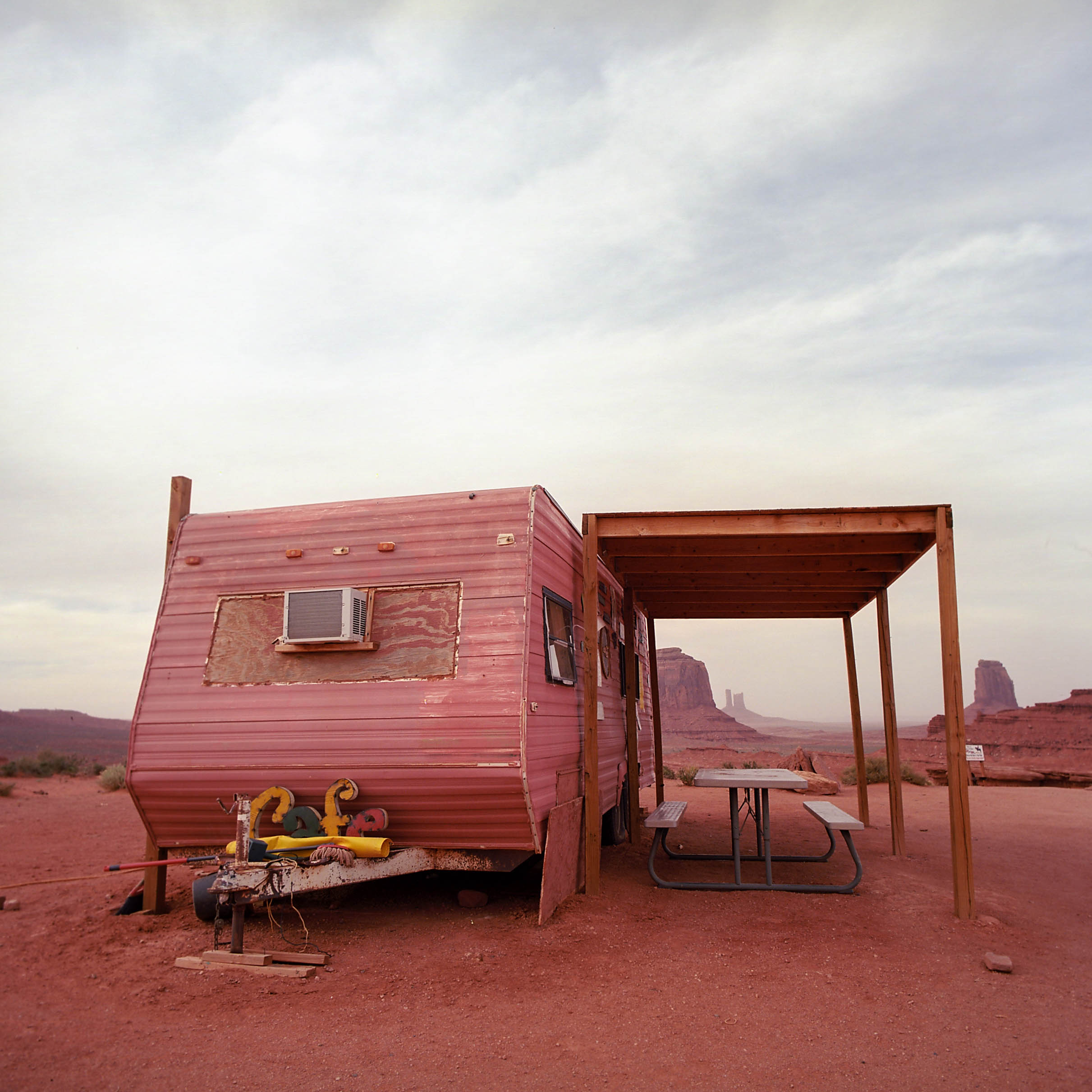 TRAILER IN MONUMENT VALLEY