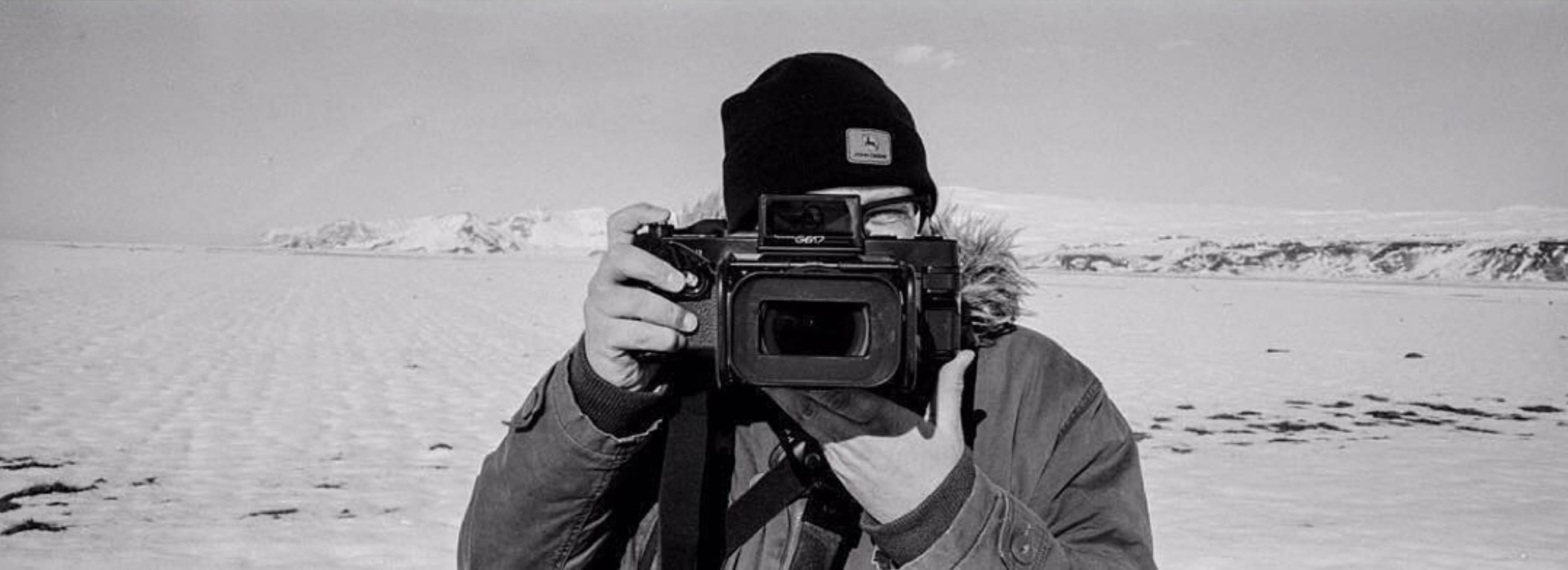 This is me in Iceland with the Fuji G617, taken by my good friend Vish from @camerafilmphoto