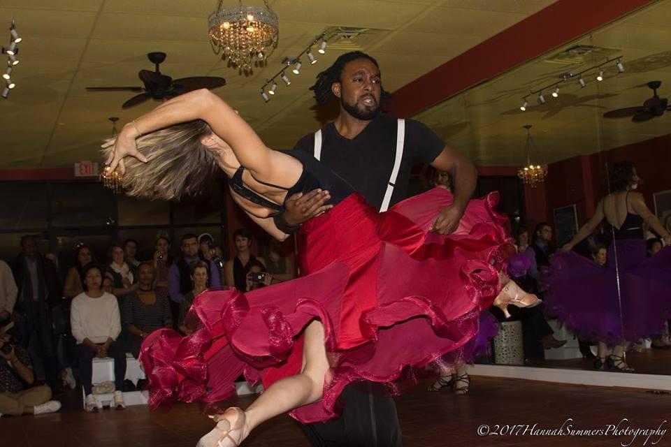Sarah Sharpe and Shi Johnson    Latin dancing partners and teachers