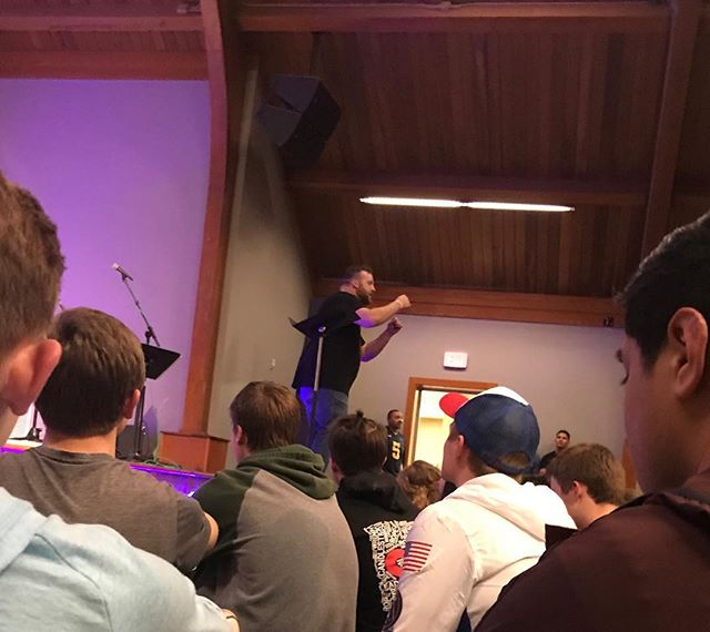 Shout out to Karl for bringing us the word tonight at winter camp