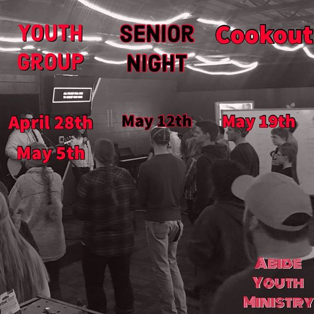 Only 4 more nights of youth group this year. Be there tonight as we talk about Jesus being the Way, the Truth and the Life.