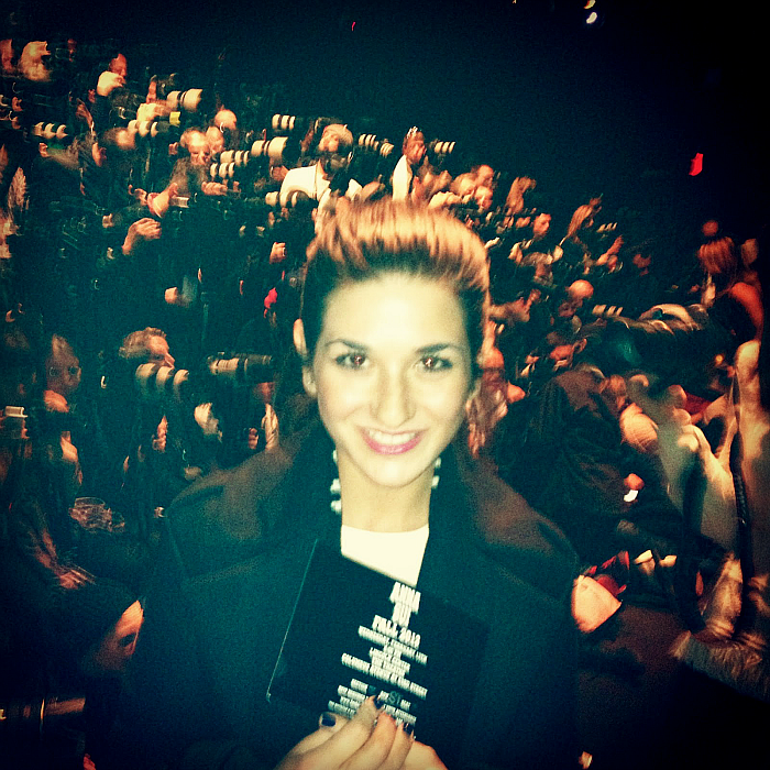 Me at the Anna Sui Fashion Show