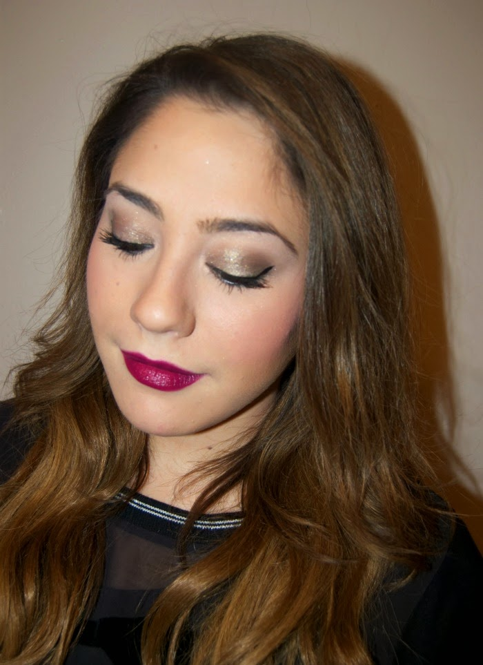 New Year's inspired makeup look tutorial by Tami - Louboutins and Love Fashion Blog