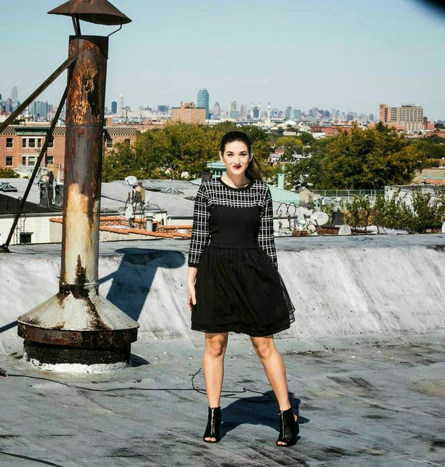 Strapless Black Dress Over Sweater - Louboutins and Love Fashion Blog by Esther Santer
