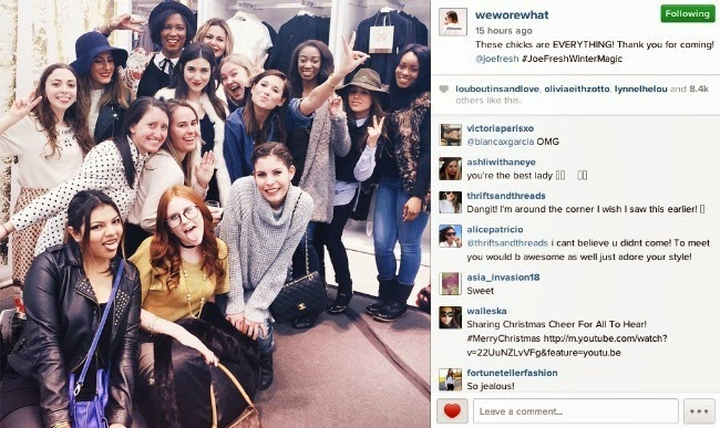 Our group shot that Danielle posted on her Instagram