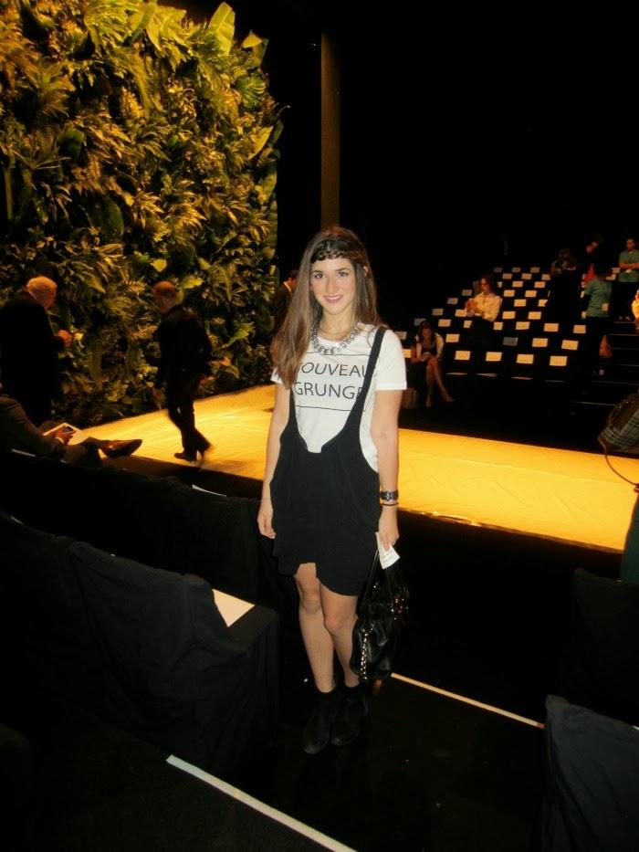Zara t-shirt, Zara suspender skirt, Zara necklace, Marc Jacobs watch, Michael Kors hamilton saffiano leather satchel, Nordstrom B.P. booties