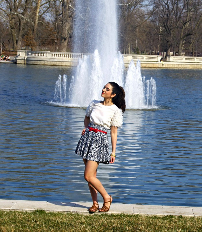 just+add+ruffles+louboutins+and+love+sunglasses+shirt+skirt+belt+red+bow+white+blue++green+retro+love+lips+earrings+rings+jewelry+fashion+personal+style+blog+hair+ponytail+nail+polish+trendy+spring+summer+trends+inspiration+park+outside+water+fountain.jpg