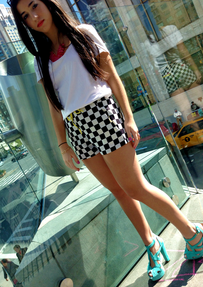 black+and+white+checkered+shorts+ring+topshop+louboutins+and+love+fashion+blog+hair+beautiful+style+want+tan+nature+photoshoot+central+park+nyc+manhattan+model+jewelry+ring+bracelet+shoes+heels+green+turquoise+yellow+colorful+street+women+want+bright+.png