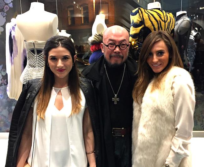 me, fashion designer Lie Sangbong, and Eliana