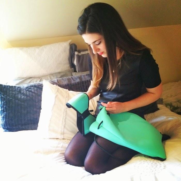 mint green neoprene bikini from Triangl Swimwear - Louboutins and Love Fashion Blog