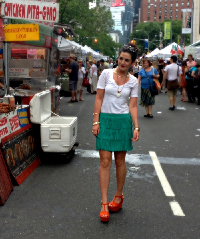 green+fringe+and+red+wedges+louboutins+and+love+fashion+blog+personal+style+clothes+dresses+skirt+shirt+white+model+brunette+jewelry+necklace+bracelet+pleats+accessories+trends+summer+spring+photoshoot+beauty+heels+shoes+ring+street+trendy+rayban+nyc.jpg
