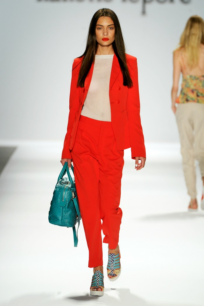NYFW+Nanette+Lepore+Spring+2014+Fashion+louboutins+and+love+fashion+blog+fashion+week+spring+2014+designer+celebrity+stylist+icon+inspiration+beautiful+model+runway+white+stripes+sandals+bag+coral+lips+makeup+blue+beauty+hair+sheer.jpg