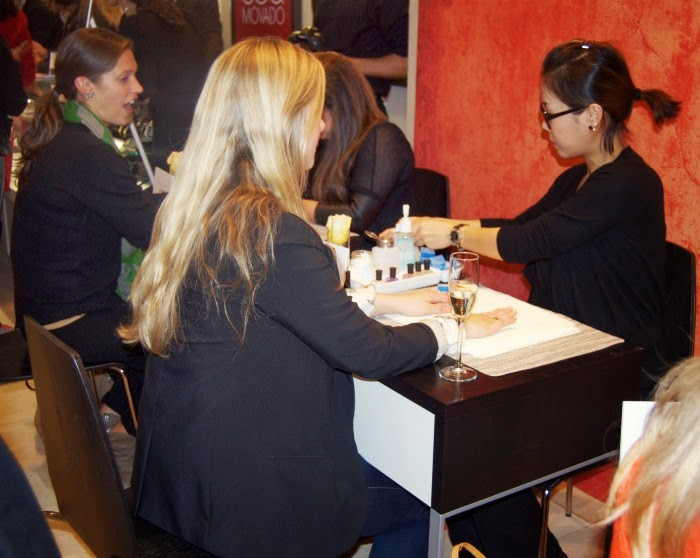 manicure stations at the event