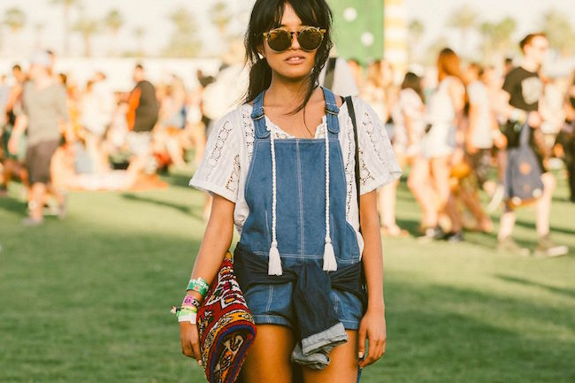 Fashion at Coachella 2015 Best Looks Louboutins and Love Fashion Blog Esther Santer Music Festival Indio California Celebrities Floral Headband Crop Tops Bra Fringe Peasant Lace Overalls Style Outfit Purse White Dress Pants Sheer Sunglasses Skirt Boho.jpg