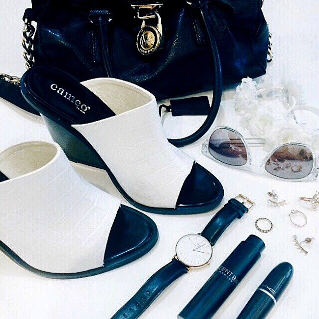 Summer Shoes From IfChic Mules Sandals Louboutins and Love Fashion Blog Esther Santer personal street style online shopping girl women heels jumpsuit hair beautiful model clothes open toe outfit shirt skirt pants bag Cameo white black knotted designer.jpg