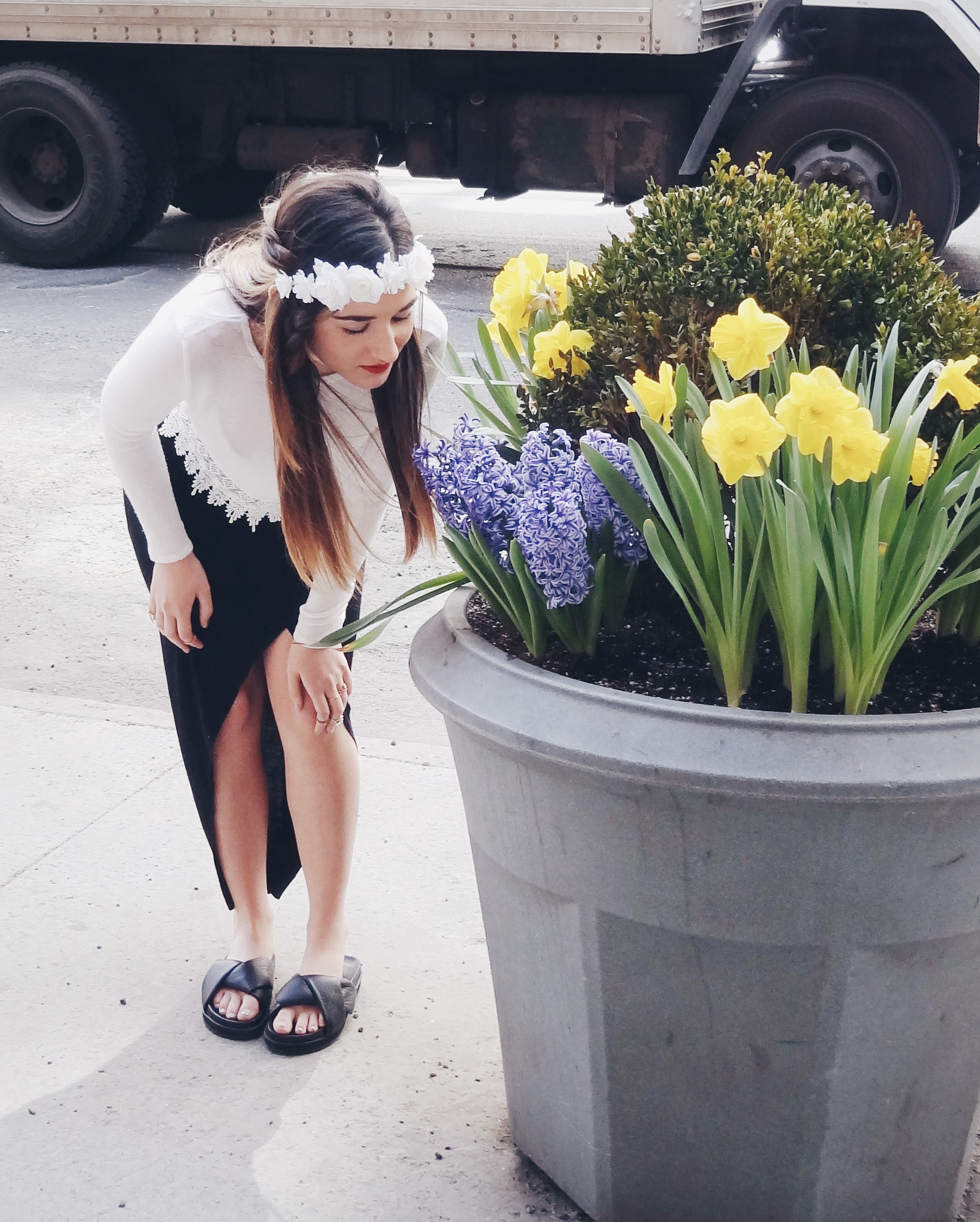 Summer Shoes From Ifchic Mules and Sandals Louboutins & Love Fashion Blog Esther Santer street style outfit trend ootd girl shoes NYC shopping dress skirt shirt women beautiful model hair photoshoot white black lifestyle heels collaboration flowers.JPG
