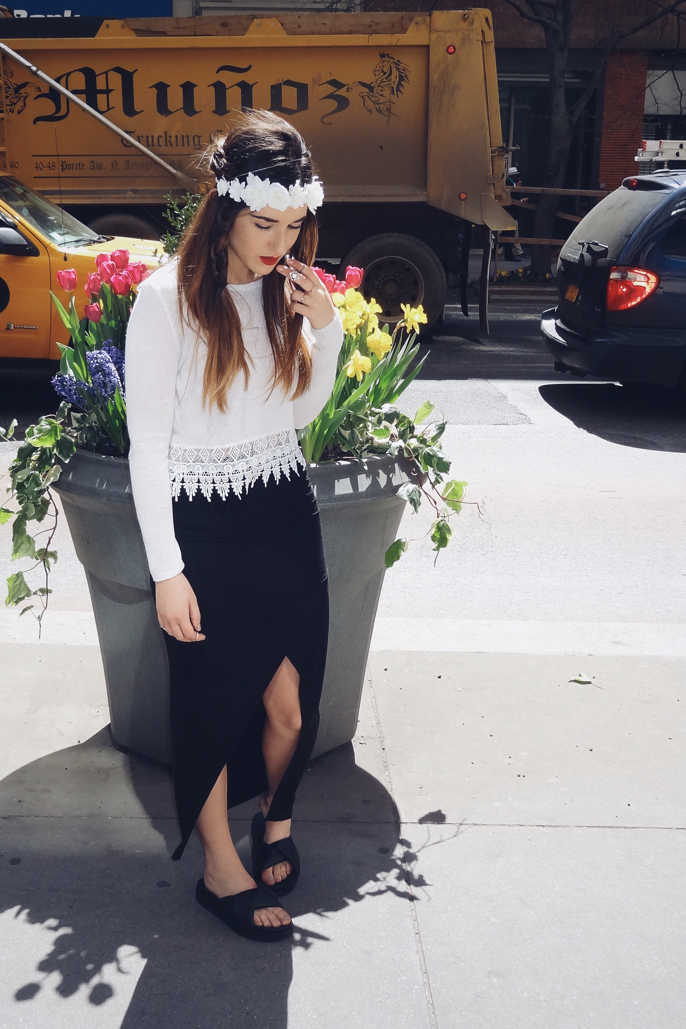 Summer Shoes From Ifchic Mules and Sandals Louboutins & Love Fashion Blog Esther Santer street style outfit trend ootd girl shoes NYC shopping dress skirt shirt women beautiful hair model photoshoot white black heels lifestyle collaboration.JPG