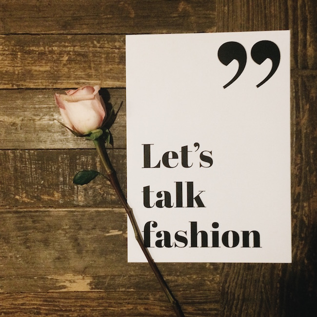 Let's Talk Fashion Text Poster Louboutins & Love Fashion Blog Esther Santer Wall Art Bedroom Inspiration White Pink Long Stemmed Roses Flowers Flatlay Taylor Momsen Polaroid Room Decor Artsy Girl Women Blogger Style Picture NYC Photoshoot TekstPoster.jpg