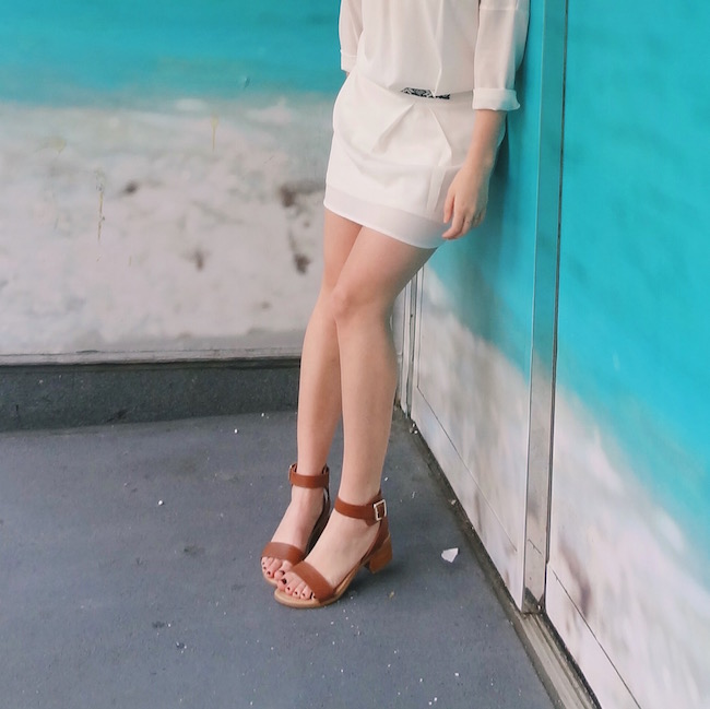 White Dress Aviators Louboutins & Love Fashion Blog L&L Esther Santer Street Style Blogger NYC Block Heels Sandals Camel Color Beaded Belt Black Sunglasses Outfit OOTD Gold Jewelry Necklaces Monogram Shoes Makeup Photoshoot Girl Swag Hair Beautiful.jpg