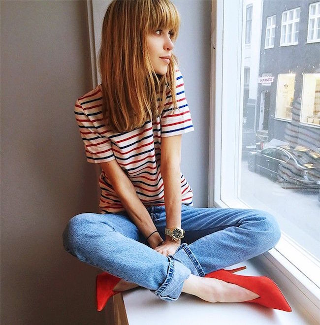Best of Pinterest Summer Style Louboutins & Love Fashion Blog Esther Santer Hair Women Inspo Street Style Fashion Photography Repin Glam Obsessed Look Wearing Inspiration NYC NYC Blogger Jacket New York Topknot Leather Stripes Jeans Denim White Black.jpg
