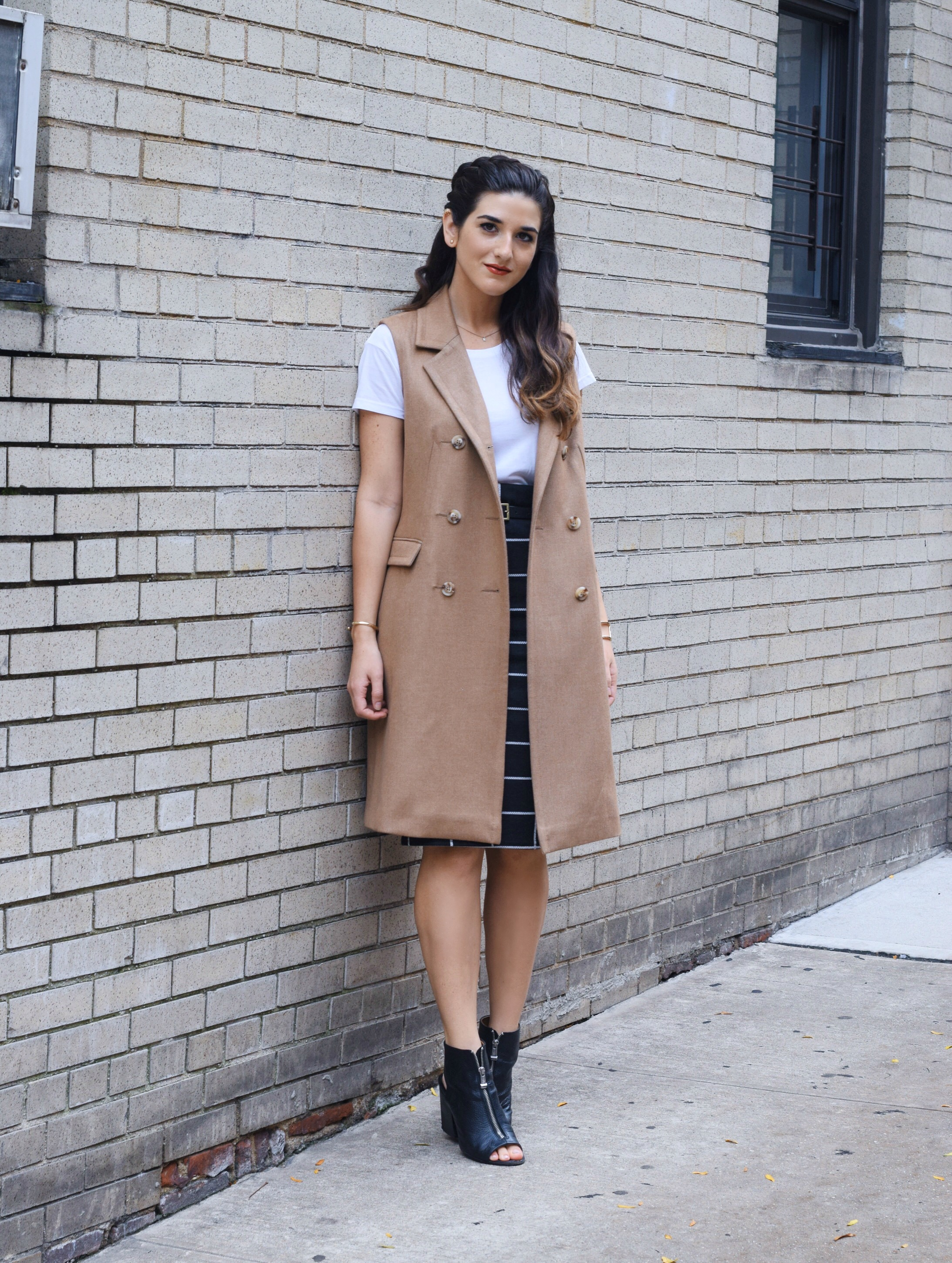 Sleeveless+Coat+Windowpane+Skirt+Oasis+Louboutins+&+Love+Fashion+Blog+Esther+Santer+NYC+Street+Style+Blogger+Vest+Braid+Outfit+OOTD+Inspo+Inspiration+White+Tee+Windowpane+Skirt+Gold+Jewelry+Cuff+Bracelet+Shoes+Black+Booties+Nordstrom+Women+Girl+Trendy.jpg