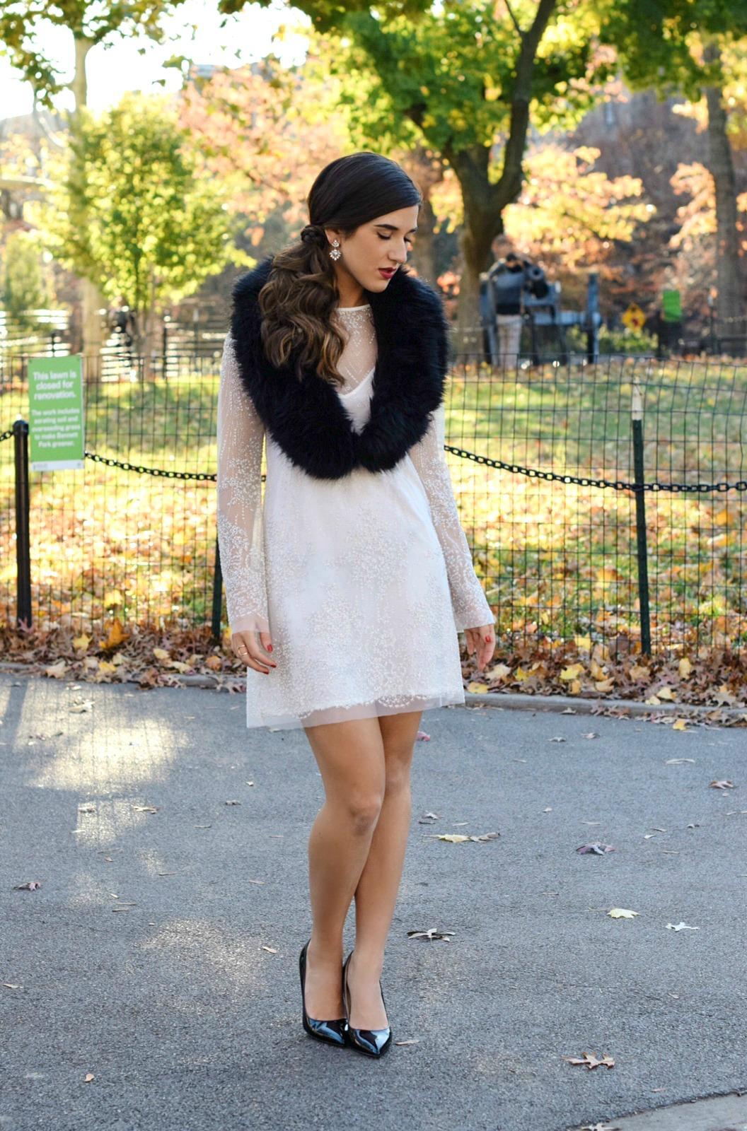 Holiday Look White Glitter Dress Elahn Jewels Louboutins & Love Fashion Blog Esther Santer NYC Street Style Blogger Diamond Rings.jpg
