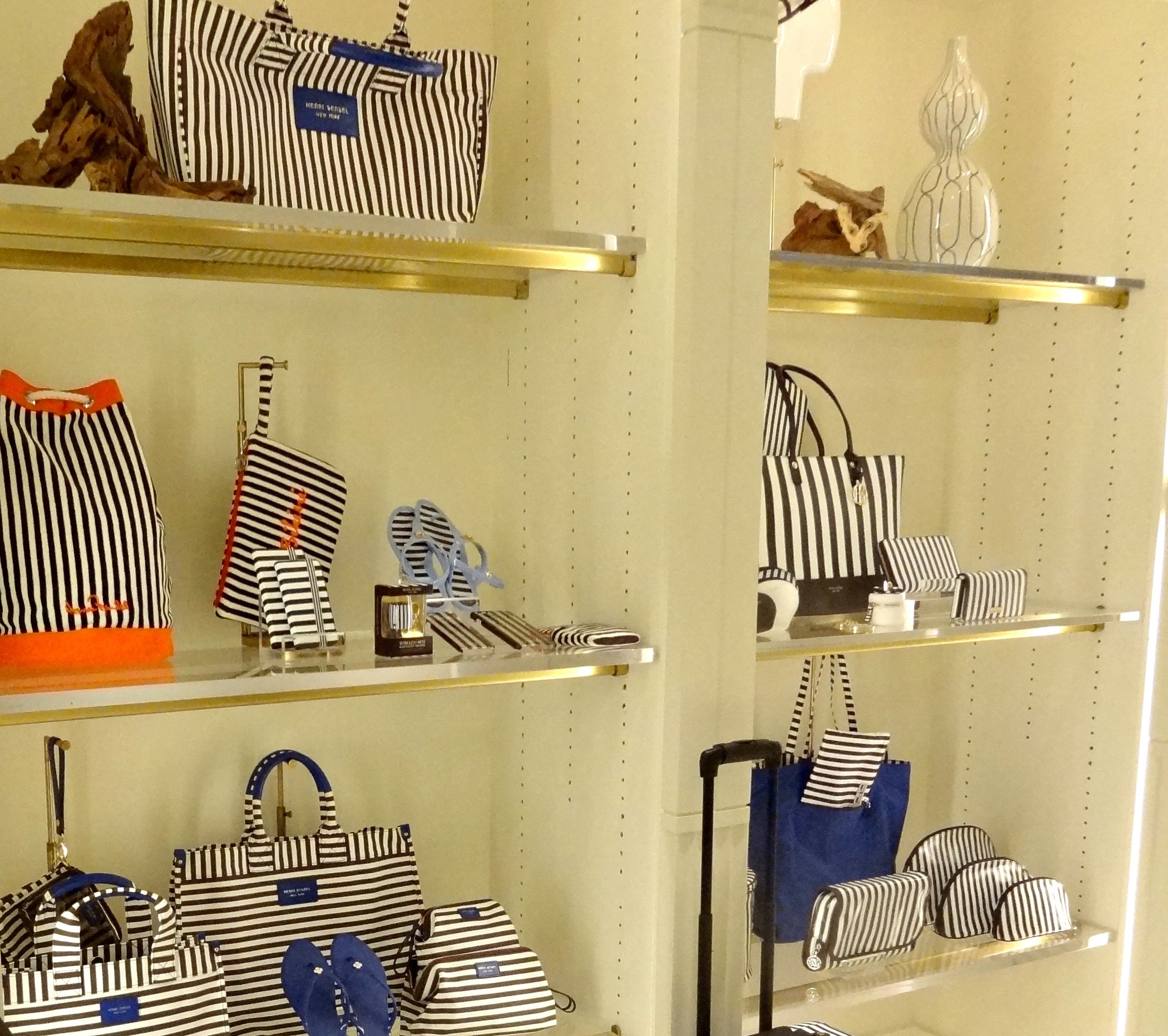 Henri Bendel Summer Spring Preview 2016 Louboutins & Love Fashion Blog Esther Santer Bucket Bag Orange Hot Pink Backpack Purse Structured Bag Wallet Collection Designer OOTD Outfit Stripes Travel Jetsetter Jewelry Red Blue Luggage Pom Pom Beach Tote.jpg