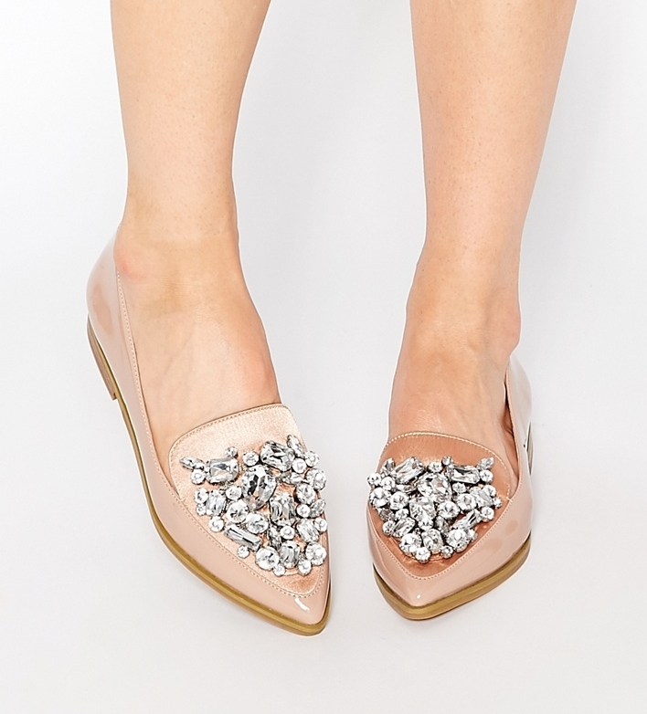 Monopoly Pointed Flat Shoes