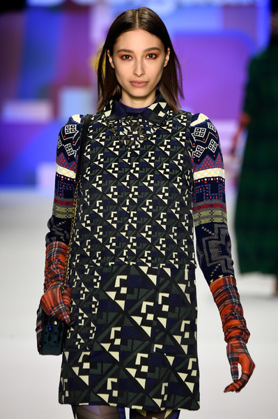 NYFW Desigual Fashion Show Fall:Winter 2016 Louboutins & Love Fashion Blog Esther Santer NYC Street Style Skirt Red Models Collection Hair Beauty Colorful Fun Patterns Inspo Press Event Coverage Photos Details Dress Hat Beautiful Pretty Blue Trends.jpg