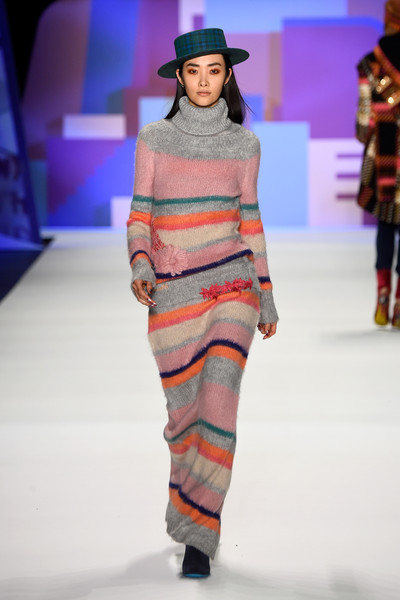 NYFW Desigual Fashion Show Fall:Winter 2016 Louboutins & Love Fashion Blog Esther Santer NYC Street Style Skirt Red Models Collection Hair Beauty Colorful Fun Patterns Inspo Press Event Coverage Photos Details Dress Gown Beautiful Pretty Shop Trends.jpg