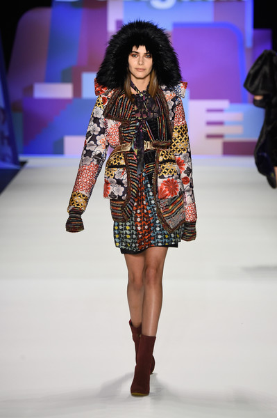 NYFW Desigual Fashion Show Fall:Winter 2016 Louboutins & Love Fashion Blog Esther Santer NYC Street Style Skirt Red Models Collection Hair Beauty Colorful Fun Patterns Inspo Press Event Coverage Photos Details Dress Jacket Beautiful Pretty Coat Trend.jpg