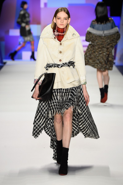 NYFW Desigual Fashion Show Fall:Winter 2016 Louboutins & Love Fashion Blog Esther Santer NYC Street Style Skirt Red Models Collection Hair Beauty Colorful Fun Patterns Inspo Press Event Coverage Photos Details Dress Jacket Beautiful Pretty Plaid Trend.jpg