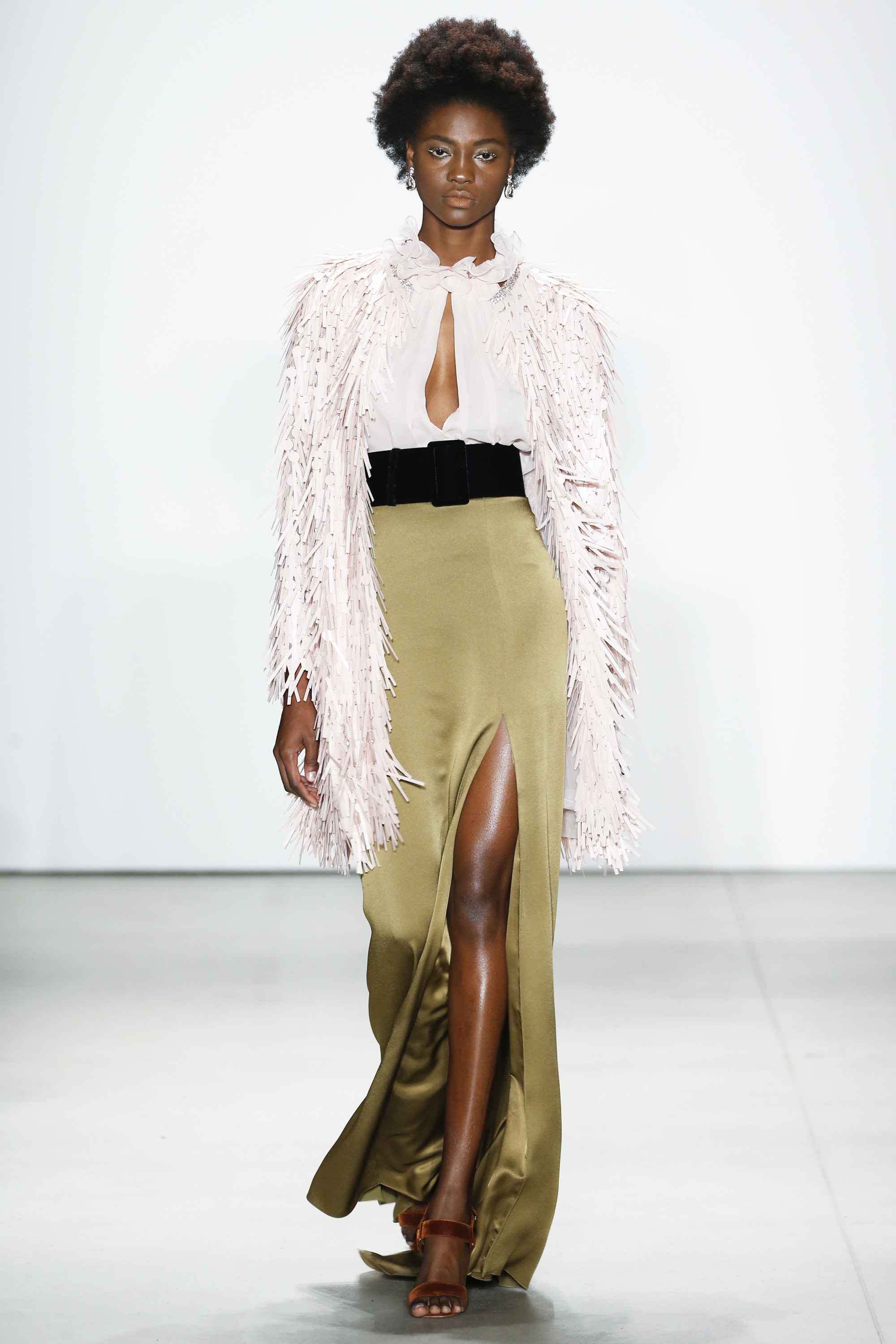 NYFW Jenny Packham Fashion Show Fall:Winter 2016 Louboutins & Love Fashion Blog Esther Santer NYC Street Style Models Collection Hair Makeup Dress Trend Metallic Sequins Gown Gold Beautiful Color Pretty Pink Red Floral Yellow Sheer Front Slit Skirt.jpg