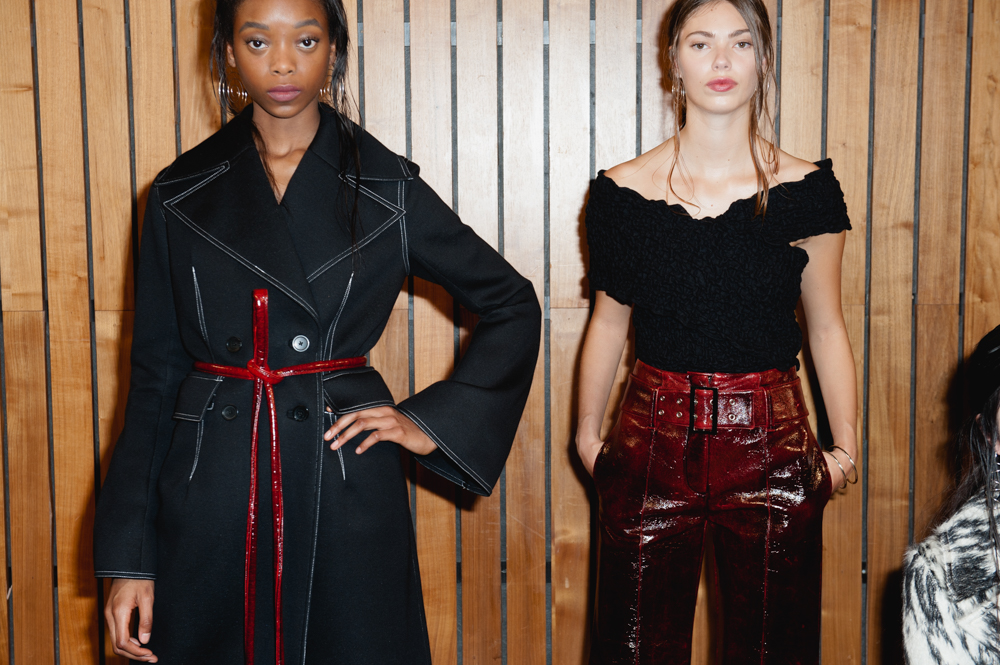 NYFW Beaufille Fashion Presentation Fall:Winter 2016 Louboutins & Love Fashion Blog Esther Santer NYC Street Style Models Modern  Collection Hair Trends Pretty Inspo Event Details Photos Shoes Outfit Bell Bottoms Pants Sweater Skirt Coat Grey Black.jpg