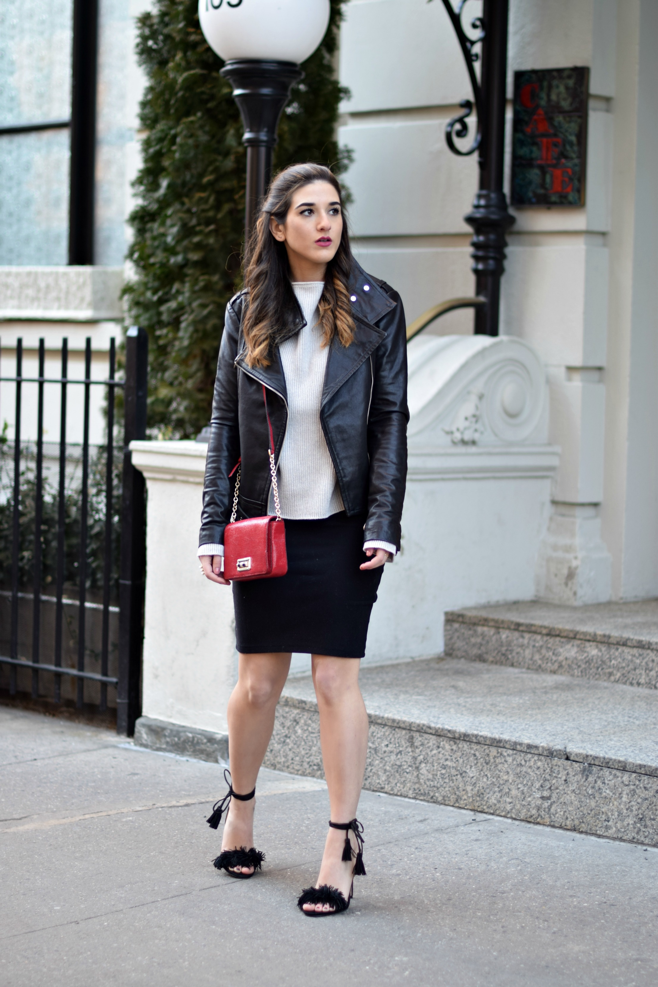 Ivanka Trump Fringe Sandals Mackage Moto Jacket Louboutins & Love Fashion Blog Esther Santer NYC Street Style Blogger Outfit OOTD Leather Summer Spring Designer Clothes Shop Model Photoshoot Helmut Lang Sweater Skirt Beautiful Pretty Shoes Women Girl.jpg