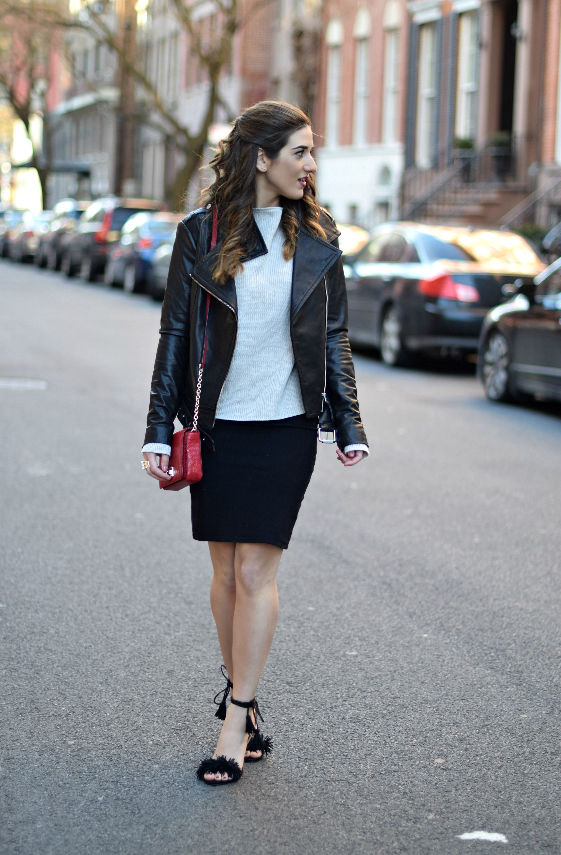 Ivanka Trump Fringe Sandals Mackage Moto Jacket Louboutins & Love Fashion Blog Esther Santer NYC Street Style Blogger Outfit OOTD Leather Summer Spring Designer Clothes Shop Model Photoshoot Helmut Lang Sweater Skirt Pretty Beautiful Shoes Girl Women.jpg