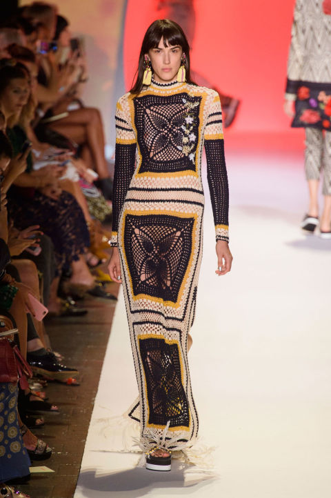 NYFW Desigual Fashion Show Spring Summer 2017 Louboutins & Love Fashion Blog Esther Santer NYC Street Style Ready To Wear Embellishments Denim Tribal Stripes Jeans Casual Swimsuit Bikini Shirt Hat Skirt Dress Az.jpg