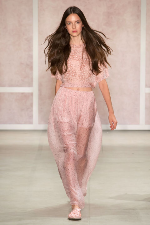 Noon By Noor Fashion Show Spring Summer 2017 Louboutins & Love Fashion Blog Esther Santer Street Style Sheer Sets Matching Neutrals Ready To Wear Slides Sneakers Comfy Chic Girl Woman Cardigan Ensemble Blush Pink.jpg