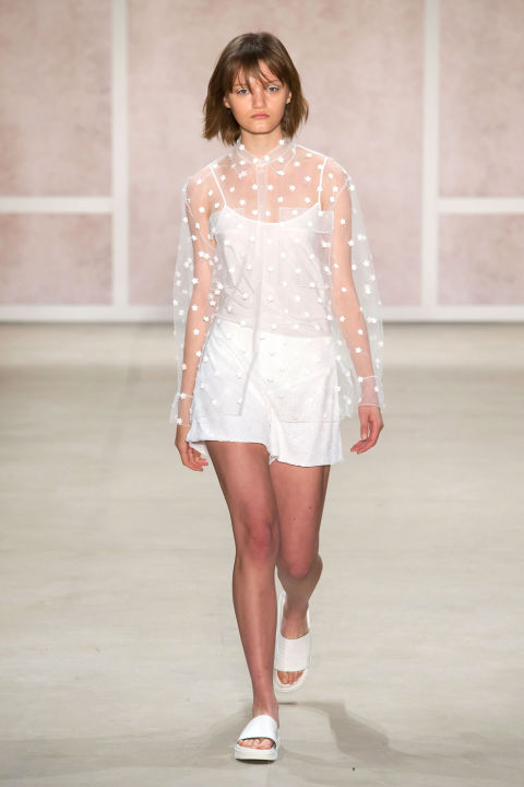 Noon By Noor Fashion Show Spring Summer 2017 Louboutins & Love Fashion Blog Esther Santer Street Style Sheer Sets Matching Neutrals Ready To Wear Slides Sneakers Comfy Chic Girl Woman Cardigan Ensemble Polka Dot.jpg