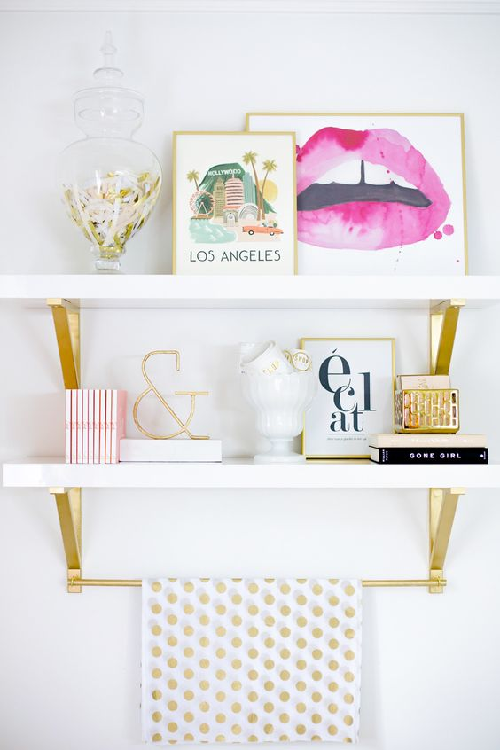Interiors Louboutins & Love Fashion Blog Esther Santer Chic Rug Fuzzy Chair Metal Flowers Pot Plant Pillow Fur Carpet Wooden Wood Vase Cabinet Teacup Books Wall Hanging Art Awesome Girly Minimal Circle Oval Trinket White Wall Lips.jpg
