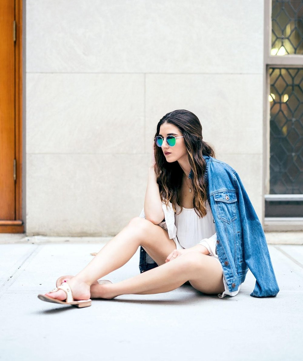 White+Romper+Jack+Rogers+Sandals+Louboutins+&+Love+Fashion+Blog+Esther+Santer+NYC+Street+Style+Blogger+Outfit+OOTD+Trendy+Summer+Spring+Shopping+Girls+Women+Hair+Jean+Jacket+Denim+Chokers+Leather+Shoes+Beautiful+Long+Sleeves+Quality+Cute+Pretty+Look.jpg
