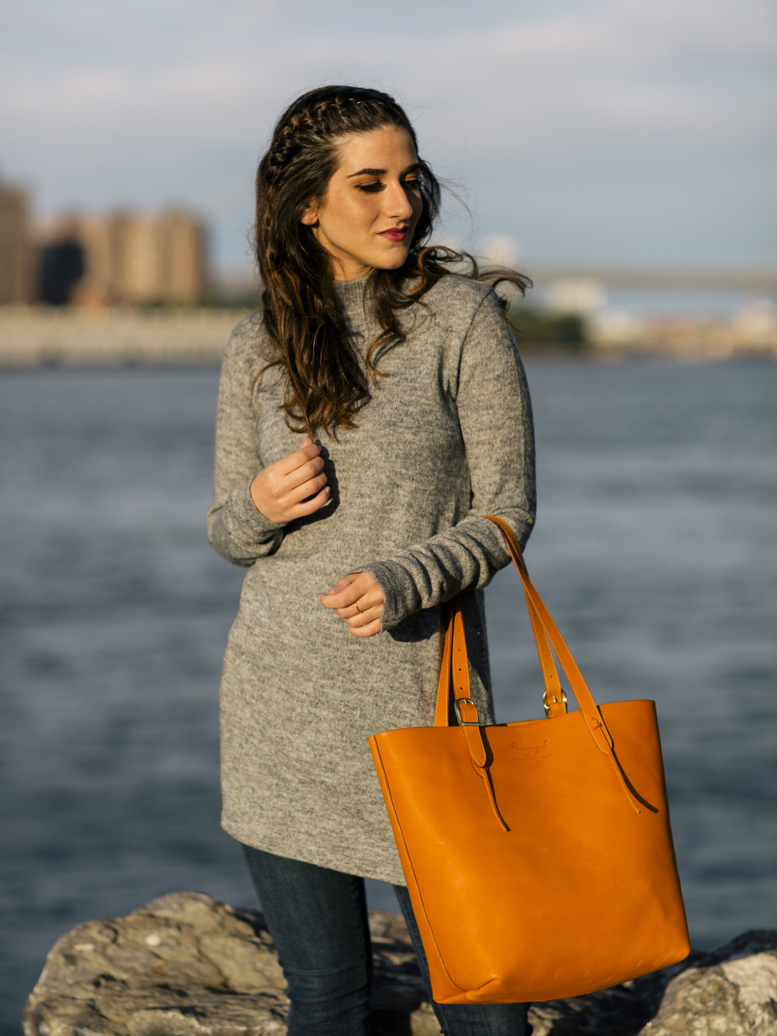 Long Grey Sweater Leopard Booties Louboutins & Love Fashion Blog Esther Santer NYC Street Style Blogger Outfit OOTD Trendy Hair Girl Women Leather Bag Jeans Denim Pretty Photoshoot Dumbo Brooklyn Shoes Fall Winter Shop Inspo Wear Beautiful Turtleneck.jpg