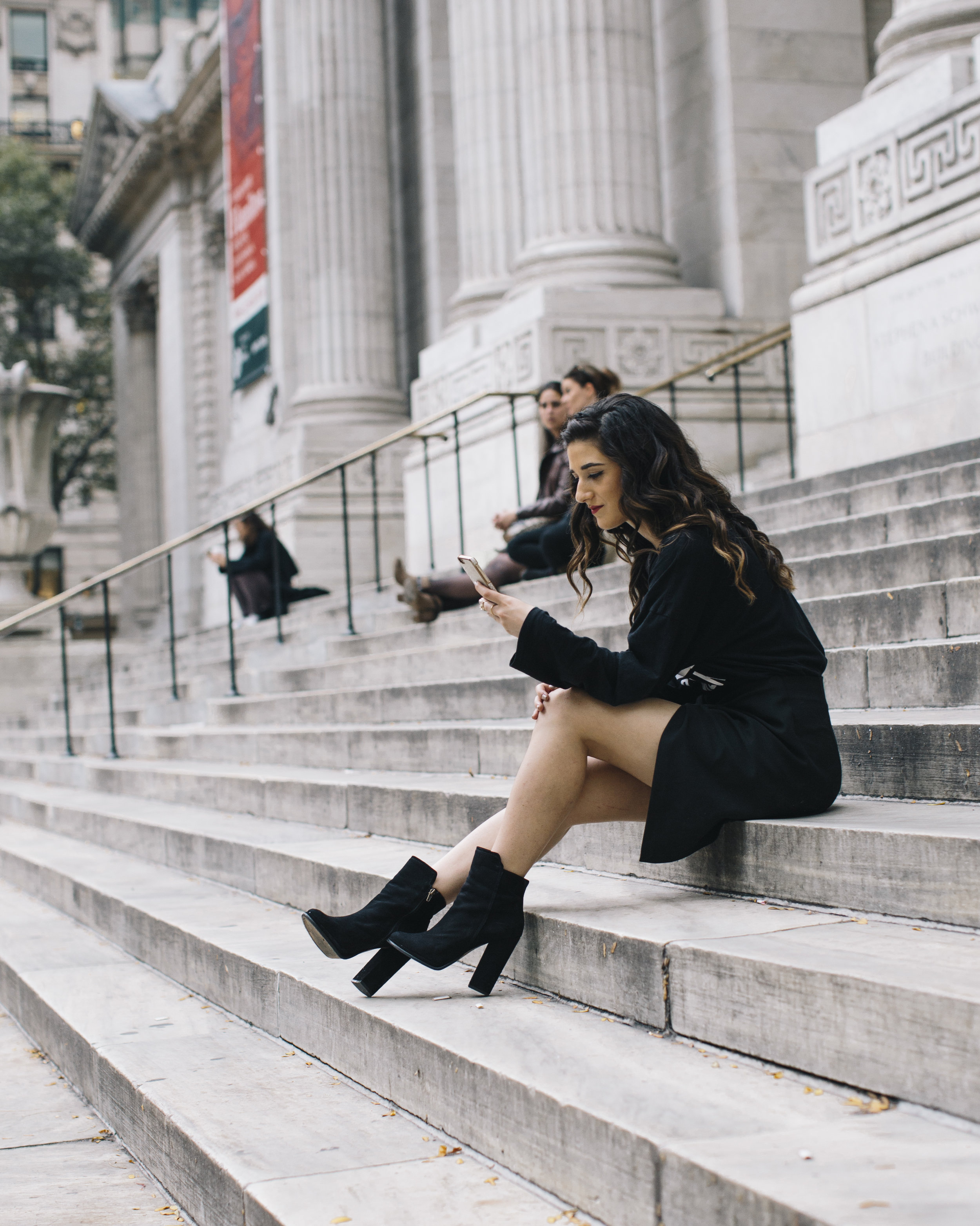 All Black Look What To Do When You Have Nothing To Wear Louboutins & Love Fashion Blog Esther Santer NYC Street Style Blogger Outfit OOTD Trendy Braid Hairstyle Inspo Monochrome Hair Beautiful Pretty Photoshoot Model Fall Women Girls Zara Wrap Skirt.jpg