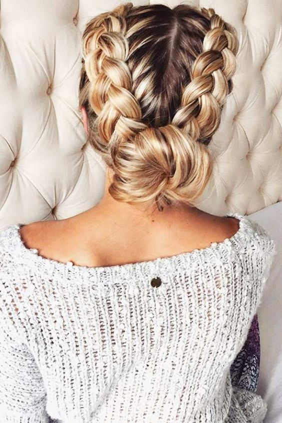 Best Braids Louboutins & Love Fashion Blog Esther Santer Street Style Chic Updo Cute Fashion Hair Grey Blonde Brunette Black Pink Dutch Highlights.jpg