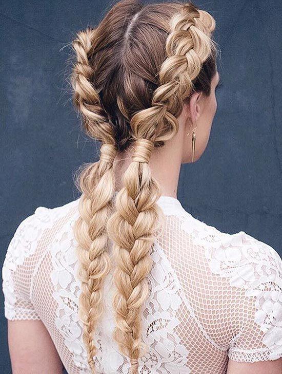 Best Braids Louboutins & Love Fashion Blog Esther Santer Street Style Chic Updo Cute Fashion Hair Grey Blonde Brunette Black Pink Dutch Knot.jpg