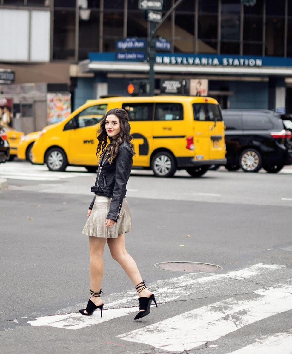 Feminine+Edgy+Look+For+The+Holidays+Payless+Louboutins+&+Love+Fashion+Blog+Esther+Santer+NYC+Street+Style+Blogger+Outfit+OOTD+Trendy+Metallic+Skirt+Black+Moto+Leather+Jacket+Girly+Lace-Up+Heels+Hair+Shopping+Women+Shoes+Pretty+Model+Party+Photoshoot.jpg