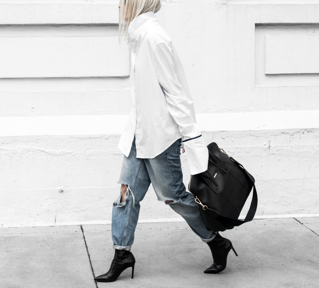 Chic Looks Of 2016 Louboutins & Love Fashion Blog Esther Santer Street Style Chic Cute Trendy Choker Sparkly Dress Rhinestones Kitten Heels Duster Coats Kendall Jenner Minimal Black White Blazer Button Down.jpg